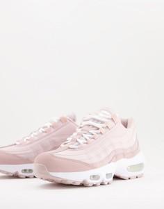 Кроссовки пастельных розовых тонов Nike Air Max 95-Розовый цвет