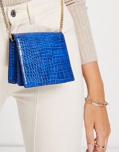 Маленькая квадратная сумка через плечо синего цвета Truffle Collection-Голубой