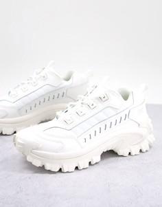 Белые кроссовки на массивной подошве CAT Intruder-Белый Caterpillar