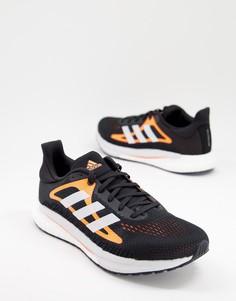 Черные кроссовки adidas Running Solar Glide-Черный цвет
