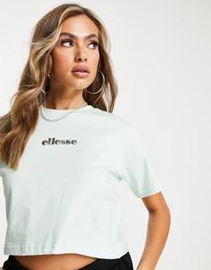 Мятная укороченная футболка ellesse-Зеленый цвет