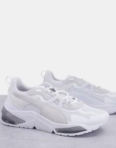 Кроссовки белого и серого цветов Puma Lqdcell Optic Stealth-Белый