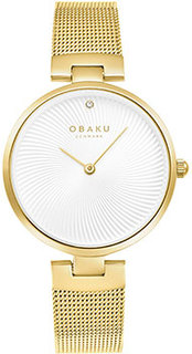 fashion наручные женские часы Obaku V256LXGIMG. Коллекция Diamant