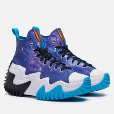 Мужские кроссовки Converse x Space Jam A New Legacy Run Star Motion Hi, цвет фиолетовый, размер 38.5 EU
