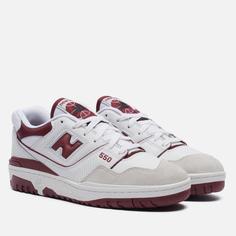 Мужские кроссовки New Balance BB550LI1, цвет бордовый, размер 37 EU