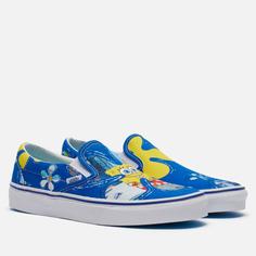 Кеды Vans x SpongeBob SquarePants Classic Slip-On, цвет синий, размер 39 EU