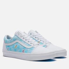 Кеды Vans x SpongeBob SquarePants Old Skool, цвет голубой, размер 43 EU