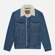 Мужская джинсовая куртка Levis The Sherpa Trucker, цвет синий, размер M