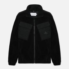 Мужская куртка Calvin Klein Jeans Fleece Over, цвет чёрный, размер XL