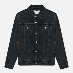 Мужская джинсовая куртка Calvin Klein Jeans Modern Essential Denim, цвет чёрный, размер L