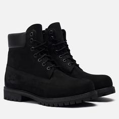 Мужские ботинки Timberland 6 Inch Premium Waterproof, цвет чёрный, размер 42 EU