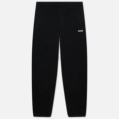 Мужские брюки MSGM Micrologo Basic Unbrushed, цвет чёрный, размер XL