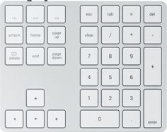Клавиатура Wireless Satechi AluminumExtendedKeypad ST-XLABKS серебряная