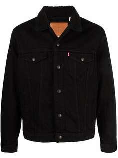 Levis джинсовая куртка с подкладкой из шерпы
