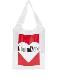 Ground Zero прозрачная сумка-тоут с логотипом