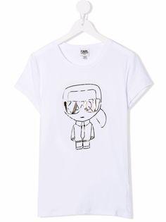 Karl Lagerfeld Kids футболка с принтом K/Ikonic