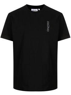 Kenzo футболка с абстрактным цветочным принтом