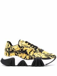 Versace кроссовки Squalo с принтом Baroque