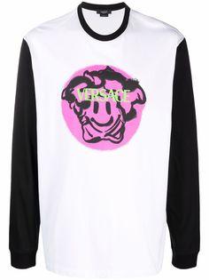 Versace футболка с длинными рукавами и логотипом Medusa