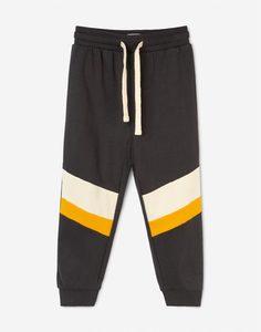 Серые спортивные брюки колор-блок для мальчика Gloria Jeans