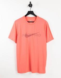 Оранжевая футболка Nike Pro Training-Оранжевый цвет
