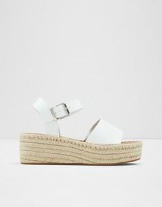 Белые сандалии-эспадрильи на платформе ALDO Abearith-Белый