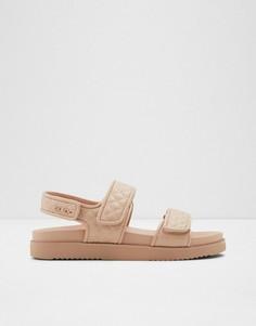 Стеганые сандалии на толстой подошве в винтажном стиле светло-розового цвета ALDO Eowilwia-Розовый цвет