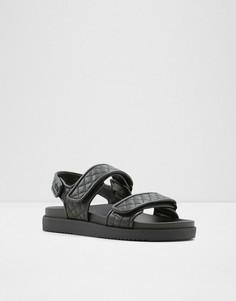 Стеганые сандалии на толстой подошве в винтажном стиле черного цвета ALDO Eowilwia-Черный цвет
