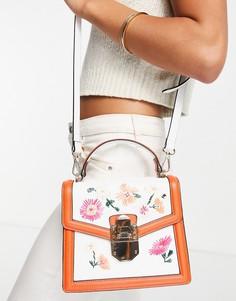 Эффектная сумка с цветочным принтом ALDO Adryniel-Белый