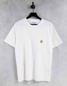 Белая футболка с карманом Carhartt WIP-Белый