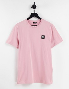 Розовая футболка с маленьким логотипом Diesel T-Diegos-K30-Розовый цвет