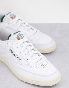 Белые кроссовки с махровой отделкой Reebok Classics Club C-Белый