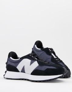 Кроссовки черного и темно-синего цветов New Balance 327-Черный цвет