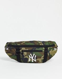 """Сумка через плечо с камуфляжным принтом и символикой """"NY"""" New Era-Зеленый цвет"""