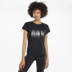 Футболка Logo Short Sleeve Womens Running Tee Puma
