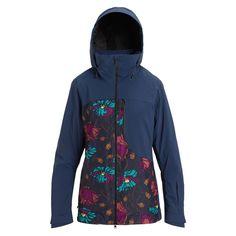 Куртка для сноуборда Burton 19-20 W Ak Gore Embark Jk Drsblu/Bnaflr-XS