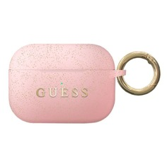 Чехол для AirPods Guess Silicone Case светло-розовый