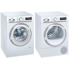 Комплект стиральной и сушильной машины Siemens WM14H0H1OE + WT47XKH1OE