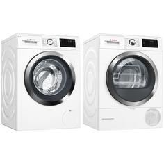 Комплект стиральной и сушильной машины Bosch WAT286H2OE + WTW876H0OE