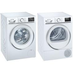 Комплект стиральной и сушильной машины Siemens WM16XEH1OE + WT47XEH1OE
