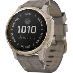 Смарт-часы Garmin Fenix 6S Pro Solar Light Gold/Shale Suede Band (010-02409-26)