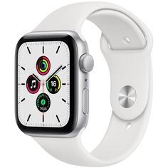 Смарт-часы Apple Watch SE 40 мм серебристый, спортивный ремешок