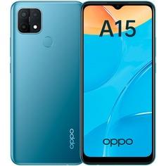 Смартфон Oppo A15 Black 32 ГБ синий