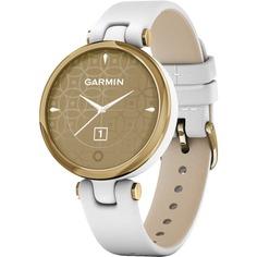 Смарт-часы Garmin Lily Emea LightGold White Leather 010-02384-B3