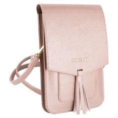 Сумка для смартфонов Guess Wallet Bag Saffiano look, розовый