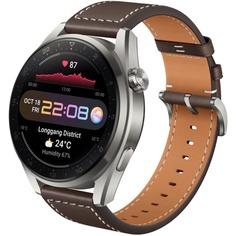 Смарт-часы Huawei Watch 3 Pro Classic LTE 48 мм коричневый кожаный ремешок