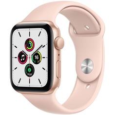 Смарт-часы Apple Watch SE 44 мм золотой, спортивный ремешок