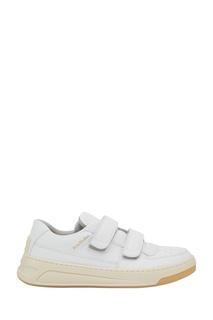 Белые кроссовки из кожи Acne Studios