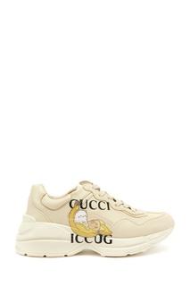 Бежевые кроссовки Bananya Rhyton Gucci