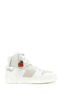 Белые высокие кроссовки из кожи Acne Studios